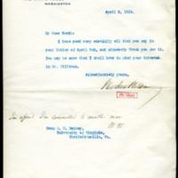 Woodrow Wilson to Richard Heath Dabney