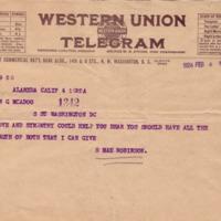 S. Mae Robinson to Eleanor Randolph Wilson McAdoo