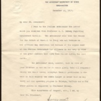 William Phillips to Woodrow Wilson