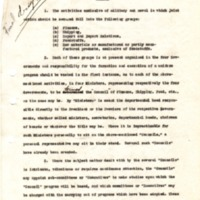 Report on Coordination of Non-Military Activities of Allied Governments