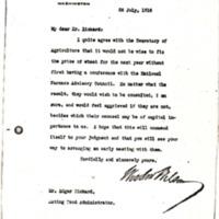 Woodrow Wilson to Edgar Rickard