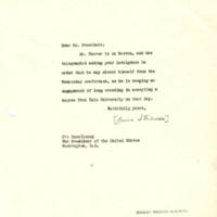 Lewis L. Strauss to Woodrow Wilson