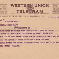 Anita Thetis Williams to Eleanor Randolph Wilson McAdoo
