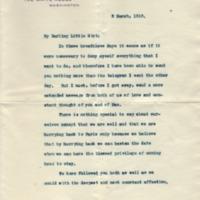 Woodrow Wilson to Eleanor Randolph Wilson McAdoo