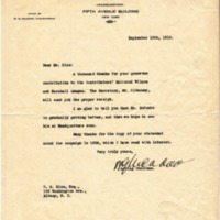 William G. McAdoo to WG Rice