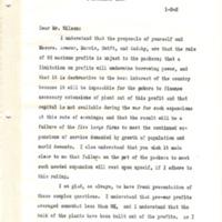 Herbert Hoover to TE Wilson