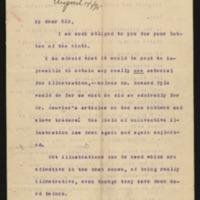 Woodrow Wilson to John D. Adams