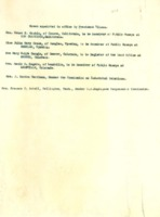 List of Women Appointed to Office by President Wilson