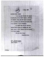 Woodrow Wilson to Fernande Gouret