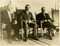William H. Mann, Woodrow Wilson, and Aram J. Pothier at Sea Girt, NJ