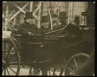 Woodrow Wilson and William H. Taft Riding to Wilson's First Inauguration