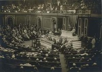Woodrow Wilson Addressing a Joint Session of Congress