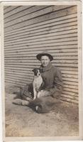 John Wells with Dog