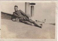 John P. Ambuehl Posing on Roof