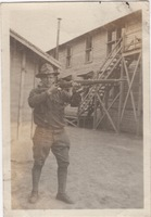 Soldier Posing with Rifle