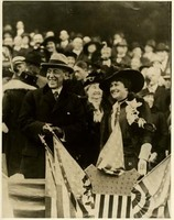 Woodrow Wilson and Edith Bolling Wilson at the World Series