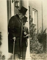 Woodrow Wilson Leaving his House for Armistice Day Celebration