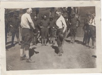 Two Soldiers with Boxing Gloves