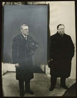 Woodrow Wilson and William H. Taft at the White House on Wilson's First Inauguration Day