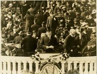 Woodrow Wilson Gives His Second Inaugural Address