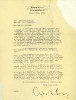Clyde R. Hoey to Josephus Daniels