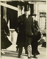 Woodrow Wilson and Ellen Axson Wilson Leaving Princeton for Washington