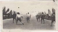 Soldiers Playing Ball in Camp