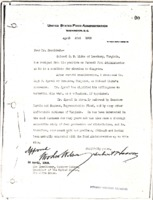 Herbert Hoover to Woodrow Wilson