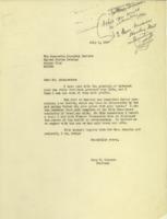 Cary T. Grayson to Josephus Daniels