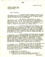 Herbert Hoover to Benjamin Strong Jr.