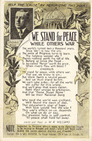 We Stand for Peace, While Others War