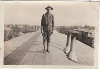 Soldier Standing on Roof
