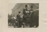 Woodrow Wilson in an Open Carriage