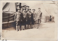 Group of Soldiers in front of Tents