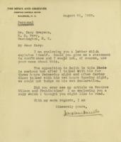 Josephus Daniels to Cary T. Grayson