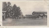 View of Soldiers Marching in Camp