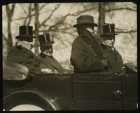 Woodrow Wilson, Warren G. Harding, Joseph G. Cannon, and Philander C. Knox, in Harding's Inaugural Parade