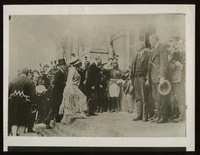 Woodrow Wilson and Edith Bolling Wilson Arrive at the Paris Peace Conference