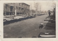 Rows of Beds Placed outside the Barracks
