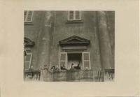 Woodrow Wilson and Edith Bolling Wilson on a Balcony