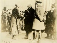 Woodrow Wilson is Received at Dover, England, with Prince Arthur