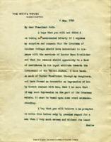 Woodrow Wilson to William W. Guth