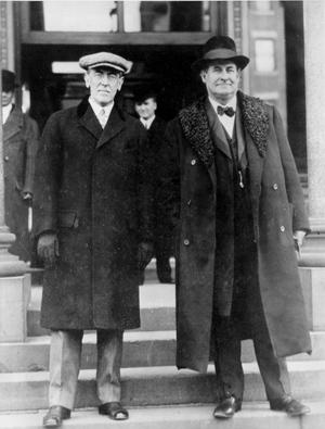 Woodrow Wilson with William Jennings Bryan