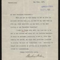 Woodrow Wilson to Henry S. Pritchett