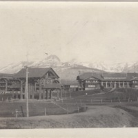 Buildings with View of Mountains