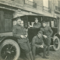 Soldiers with Automobile, Rue Nitot