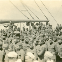 Crowd of Soldiers On Board Ship