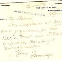 Joseph P. Tumulty to Lewis L. Strauss