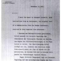 Hans Sulzer to Robert Lansing