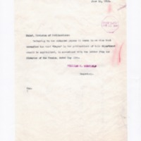 William C. Redfield to Chief, Division of Publications